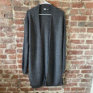 GAP Open Knitted Charcoal Gray Flecked Cardigan